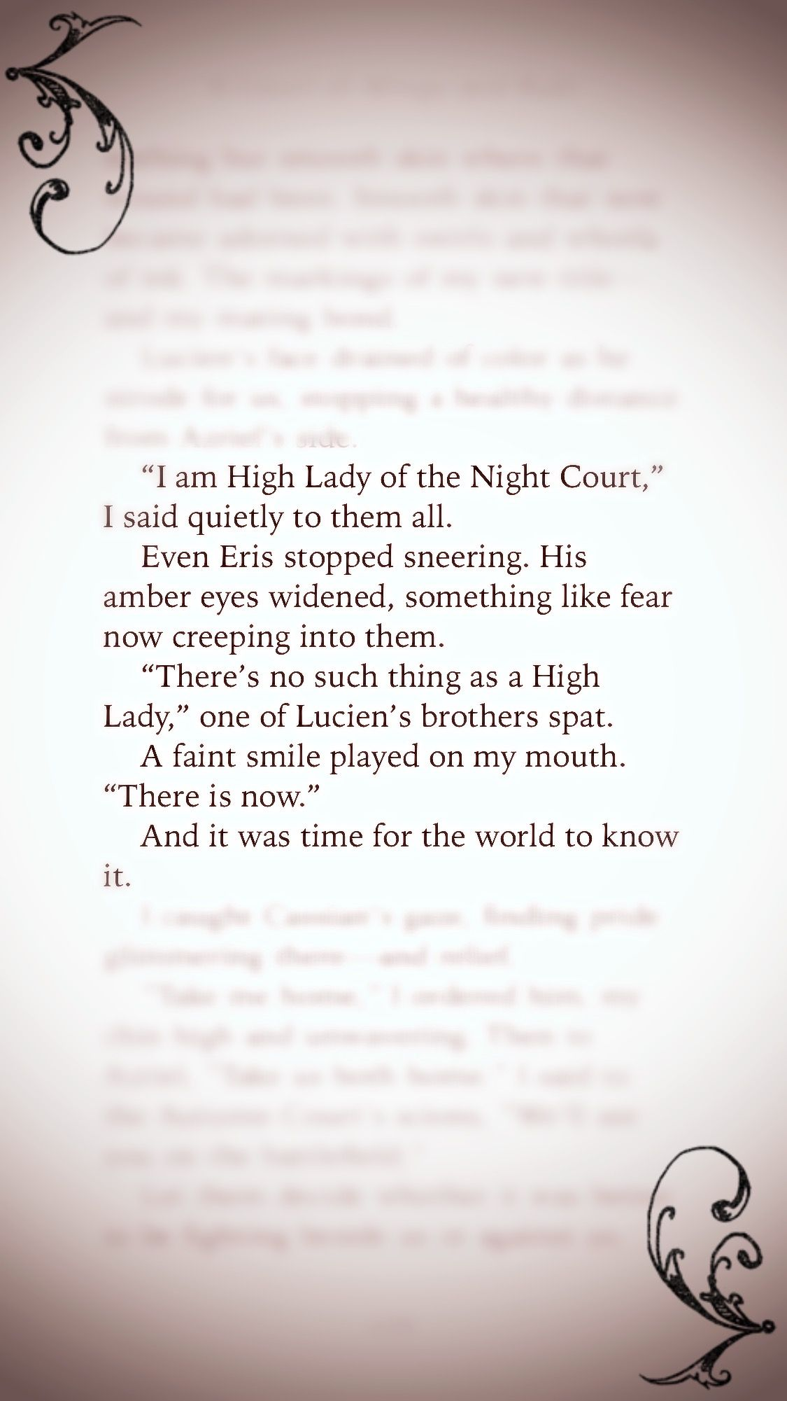 All Hail High Lady Of The Night Court Feyre Archeron A Court