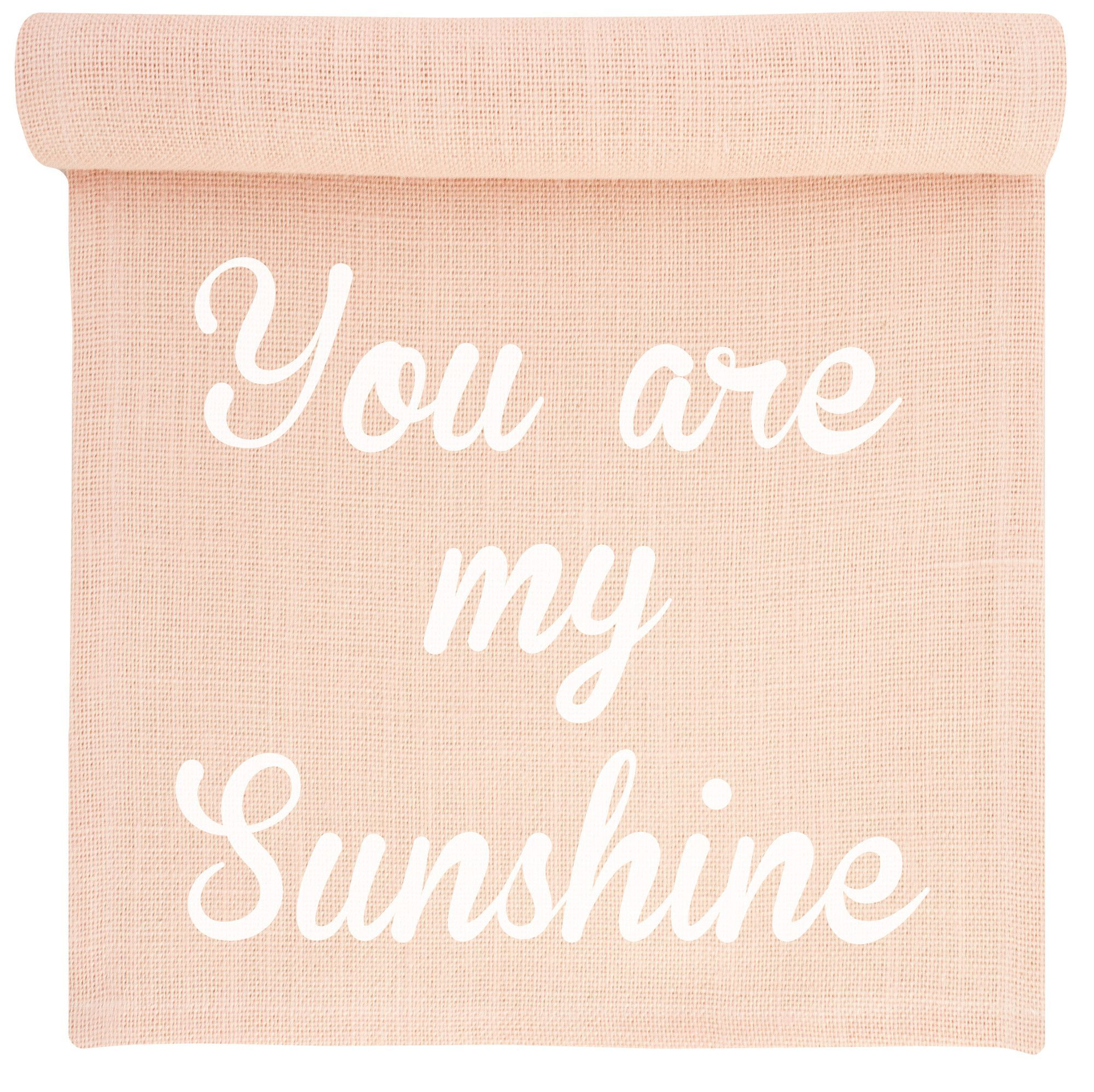 You are my Sunshine Burlap Table Runner