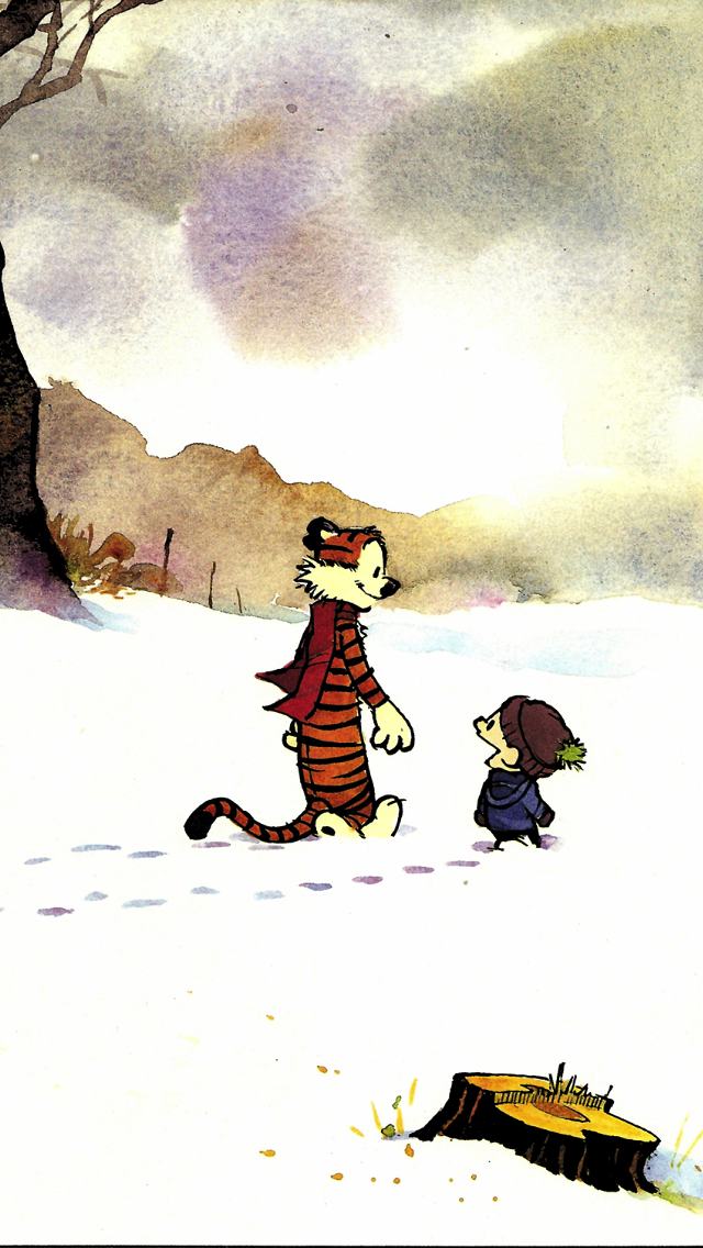 Calvin Hobbes With Images Calvin And Hobbes Wallpaper