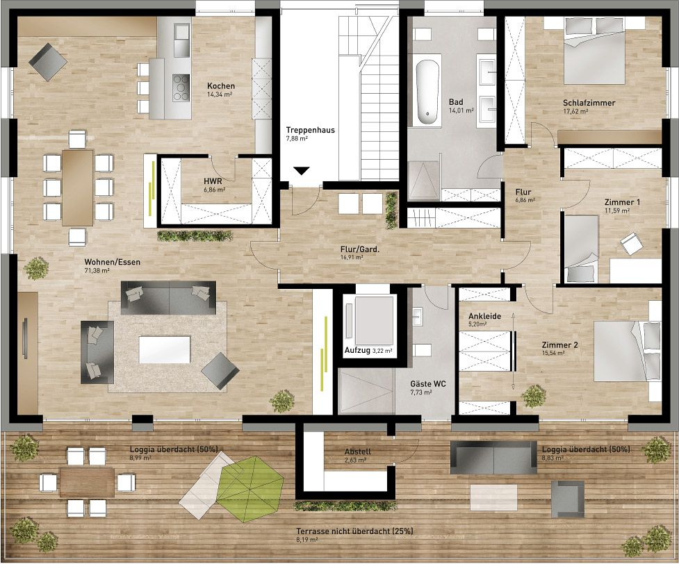 Grundriss penthouse pinterest penthouses for Raum 3d planen