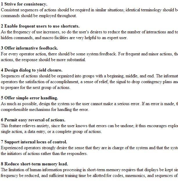 Shneiderman S Eight Golden Rules Of Interface Design Http Faculty Washington Edu Jtenenbg Courses 360 F04 Sessions S Golden Rule Interface Design Interface