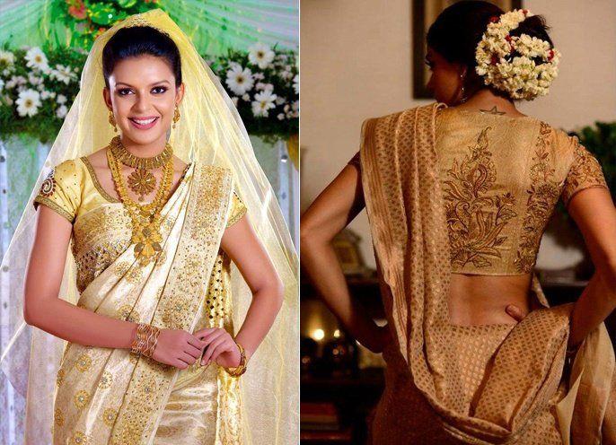 Christian Wedding Saree Designs