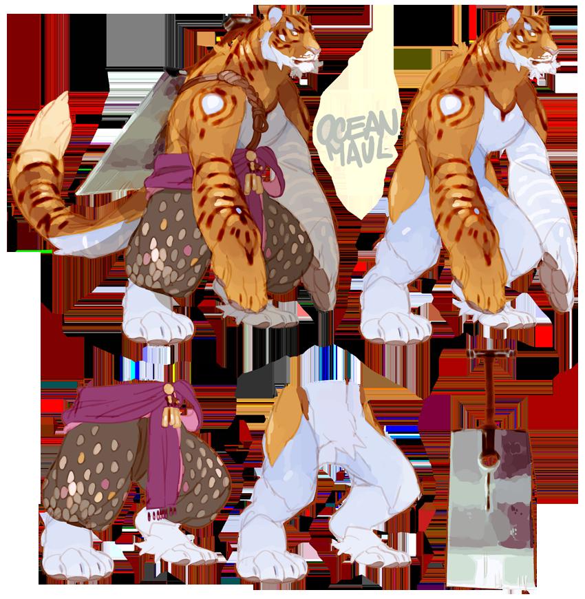 Awespme Character Inspiration: Tiger Warrior ★ Perhaps A Good Study For The Rakshasa