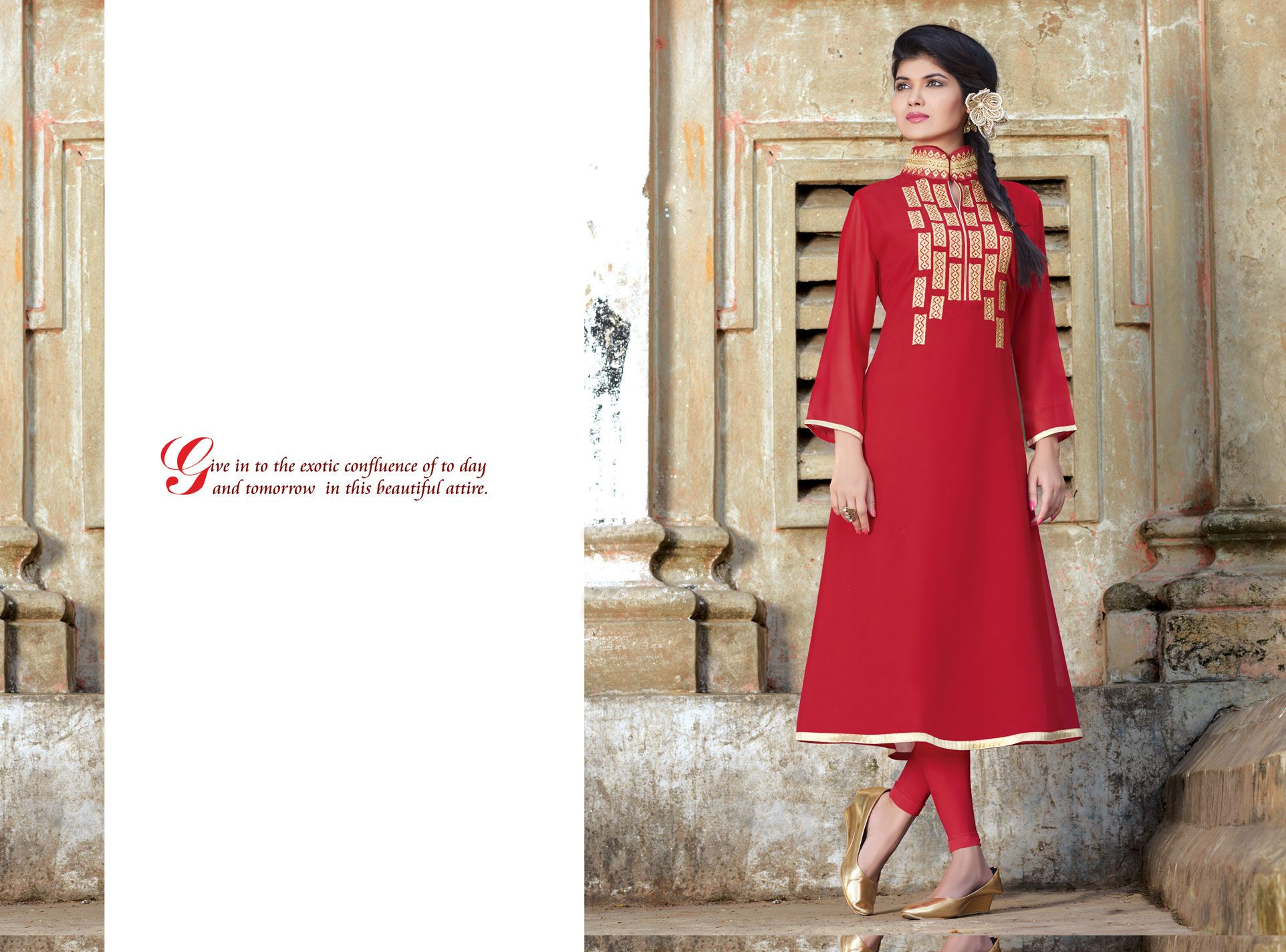 Embroidered designer kurti beautiful georgette made embroidered