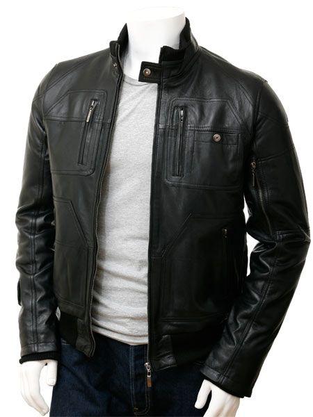 09410ba58 Men's Leather Bomber Jacket in Black: Bristol   Dressing Luis   Mens ...
