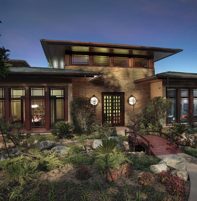 Craftsman Contemporary Home Design Prairie Style Houses