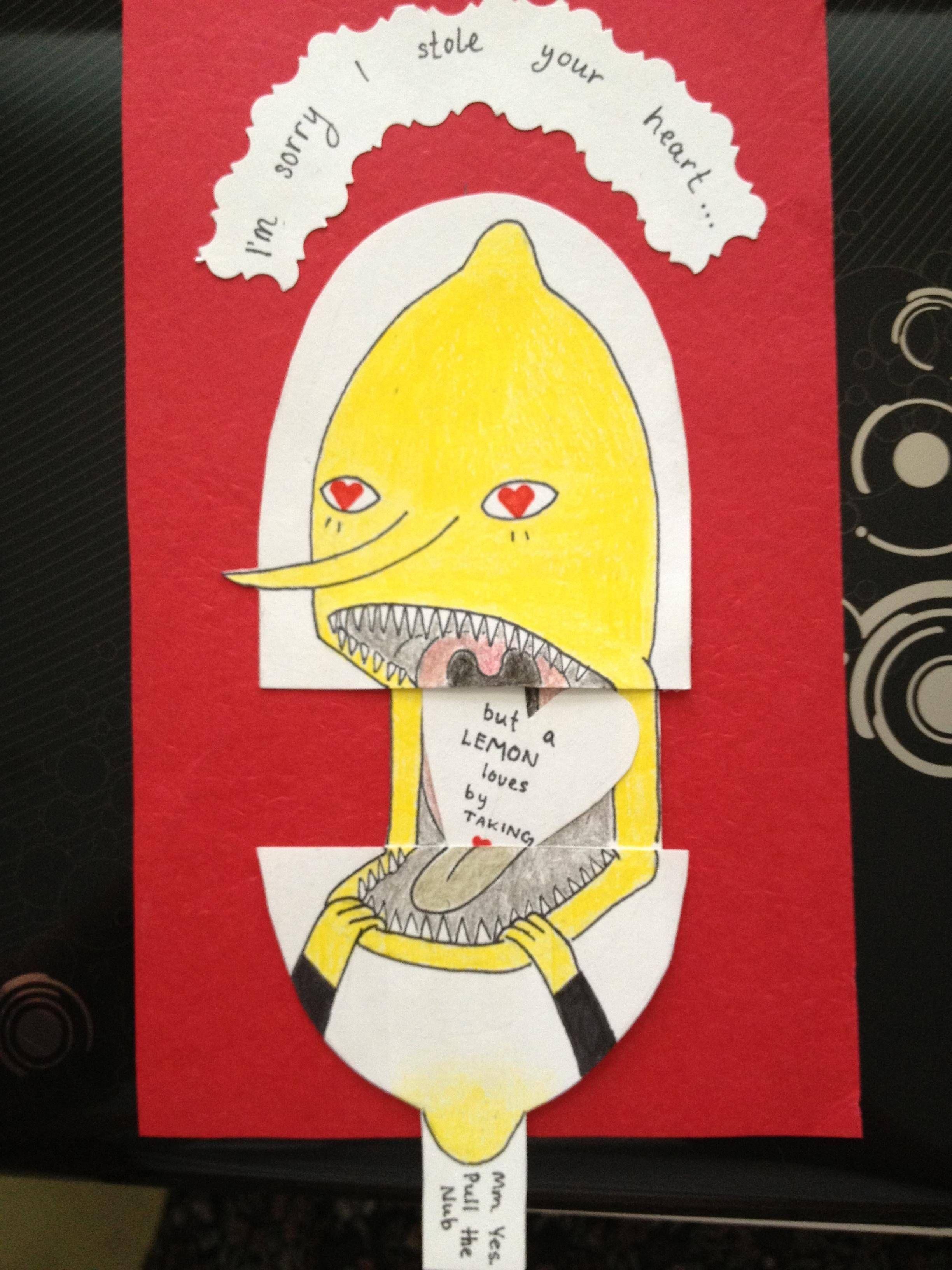 Adventure Time, Lemon Grab Valentines Day Card :p