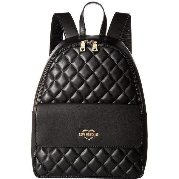 caf4731cb5 LOVE Moschino Super Quilted Backpack (Black) Backpack Bags (83 KWD) ❤ liked  on Polyvore featuring bags, backpacks, love moschino backpack, fake bags,  ...