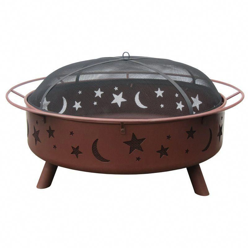 Photo of Big Sky Stars and Moon Steel Wood Burning Fire Pit