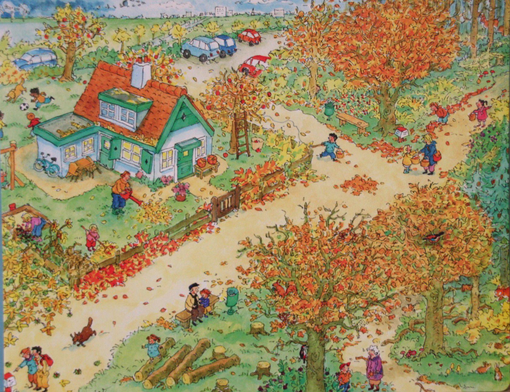 Praatplaat Bas - Herfst (getekend door Dagmar Stam) | Herfst bomen, Herfst  kunst, Herfst activiteiten