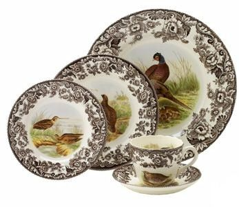 Spode Woodland 10.5 Dinner plates Set of 4