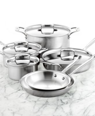 All Clad D5 Brushed Stainless Steel 10 Pc Cookware Set Reviews Cookware Sets Macy S Cookware Set Brushed Stainless Steel Stainless Steel Cookware All clad d5 brushed stainless steel 10 piece set