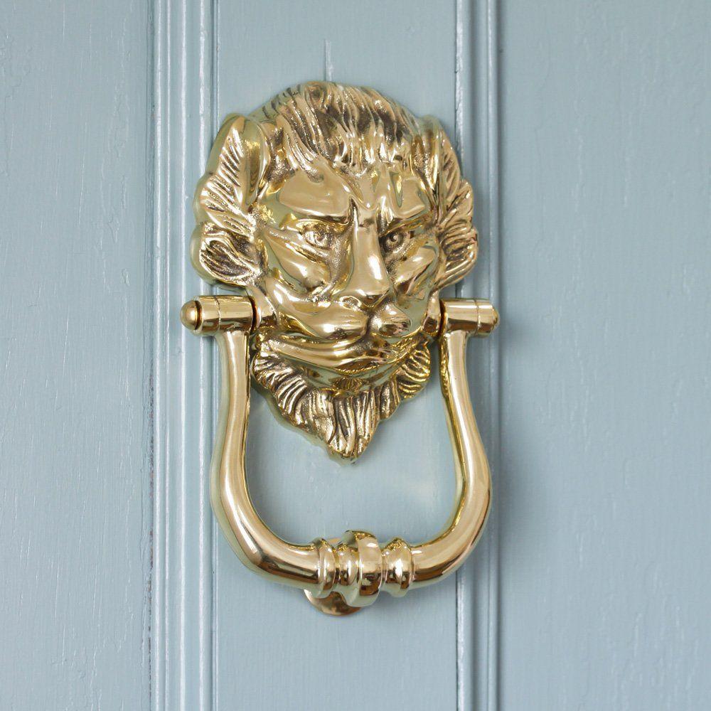 Large Brass Lion Door Knocker