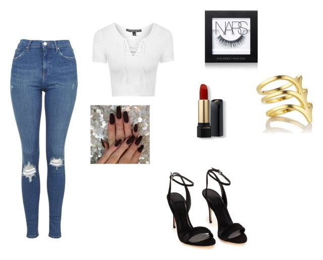 """""""On tour"""" by slayyeettia ❤ liked on Polyvore featuring Topshop, Smith/Grey, NARS Cosmetics and Lancôme"""