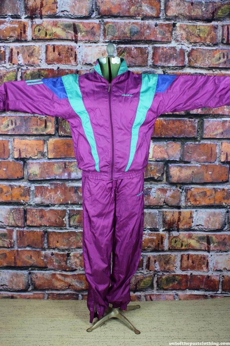 Vintage 70's Purple & Mauve ADIDAS TRACK Suit 1970s by
