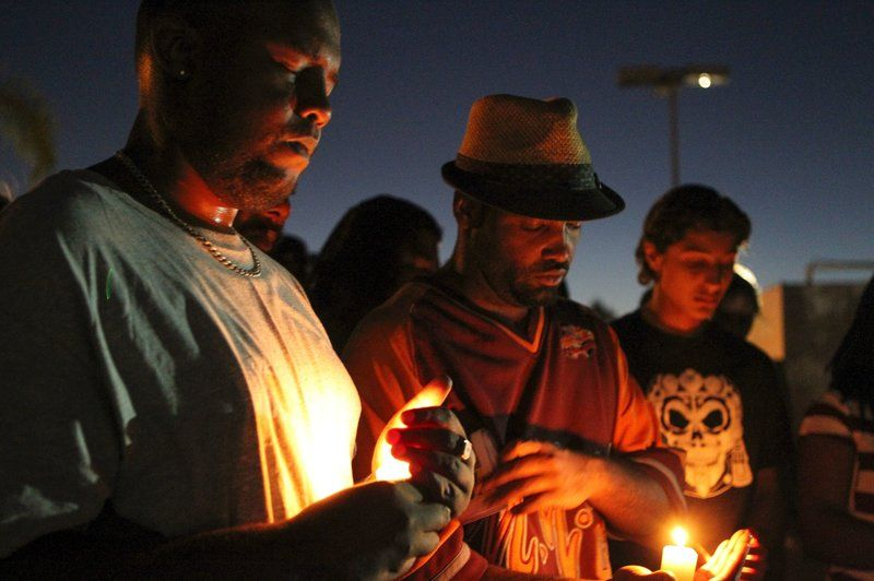 'This Is A Life': Hundreds Protest Shooting Of Unarmed Man In El Cajon : The Two-Way : NPR