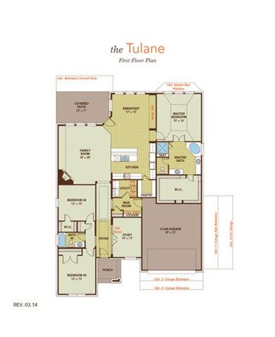 Tulane Floor Plan At Savana Ranch By Gehan Builders Leander Isd