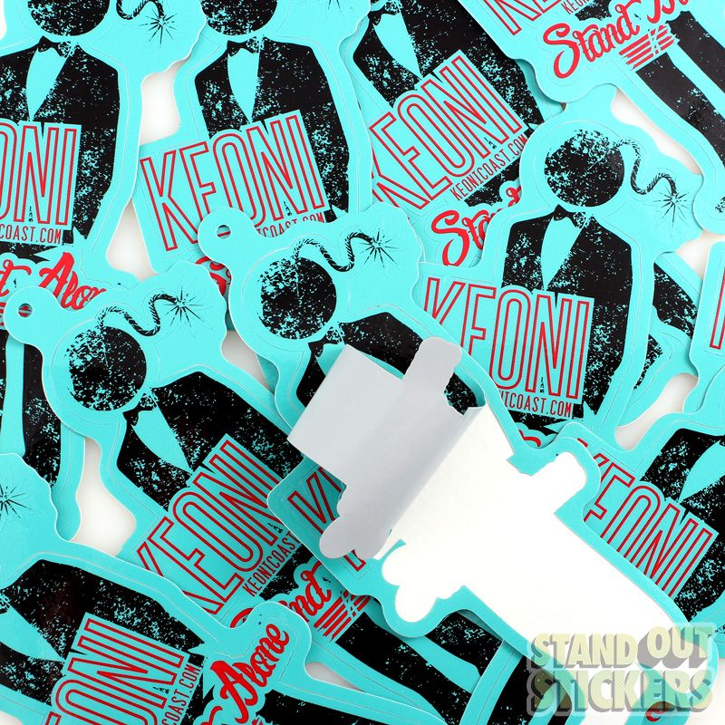KEONI Sticker Hang Tags View Samples StandOut Stickers - Custom vinyl decals die cutcustom vinyl decals standout stickers