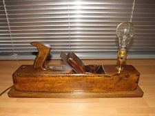 Plafoniere Soffitto Industrial : Upcycled vintage wood plane lamp steampunk industrial art