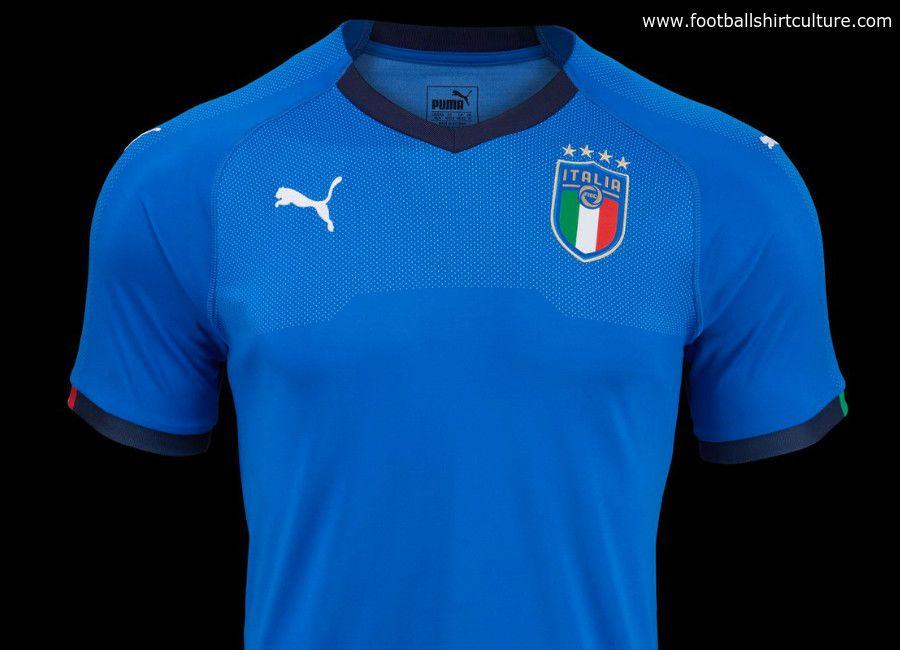 e3c06adc261 football  soccer  futbol  Azzurri  figc Italy 2018 Puma Home Kit ...