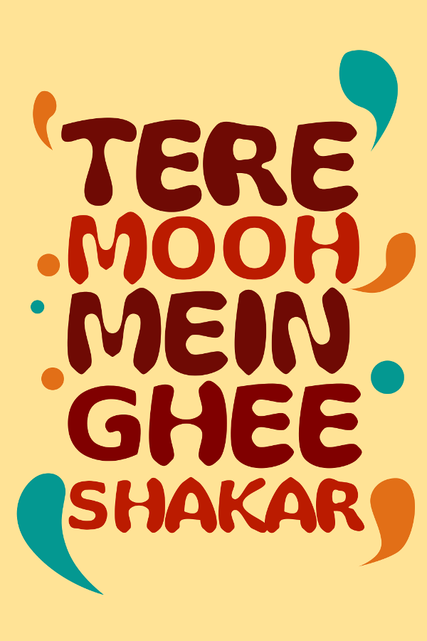 Hindi Quote Posters done for PosterGully, India. Funny