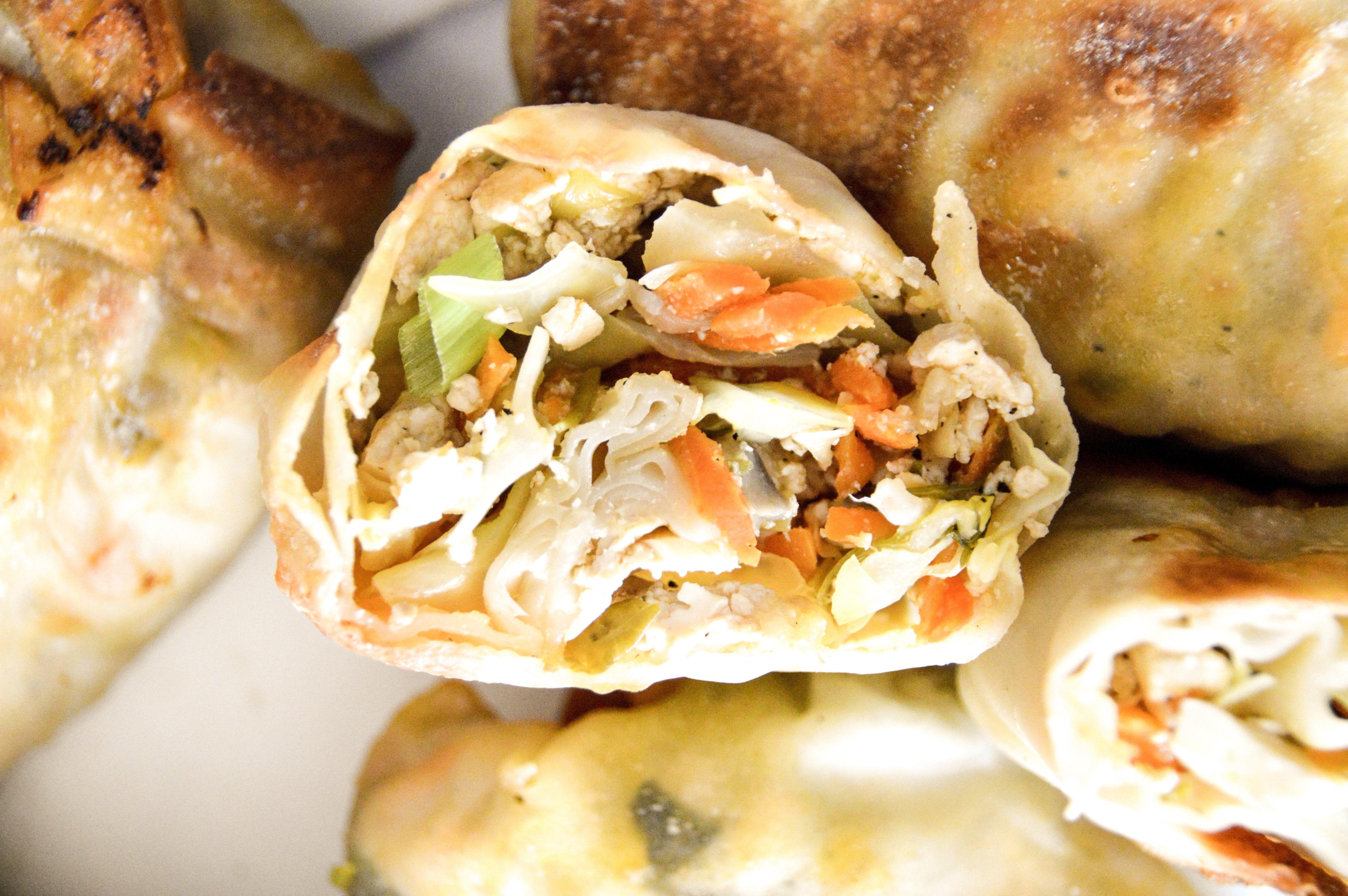 Air Fryer Veggie & Tofu Egg Rolls {Easy Egg Roll Recipe