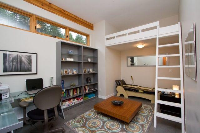 Hochbett Erwachsene Kleiner Raum Hohe Decke | Einzimmerwohnung ... Zimmer Auf Kleinem Raum