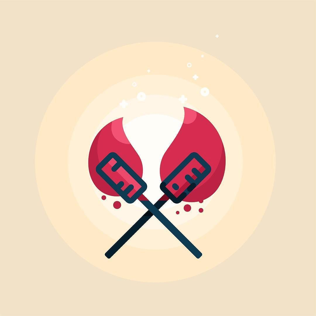 tiki torches design illustration draw sketch dribbble tiki