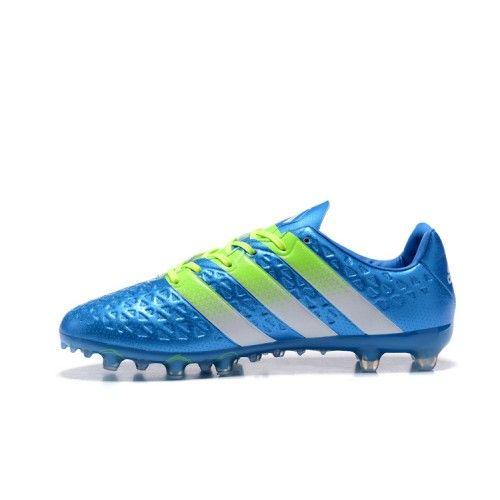 buy popular 2c916 dcba8 cheap salg adidas ace fodboldstøvler kobe adidas ace 16.1 fg ag bla gron  fodboldstovler cb6e8 d0633