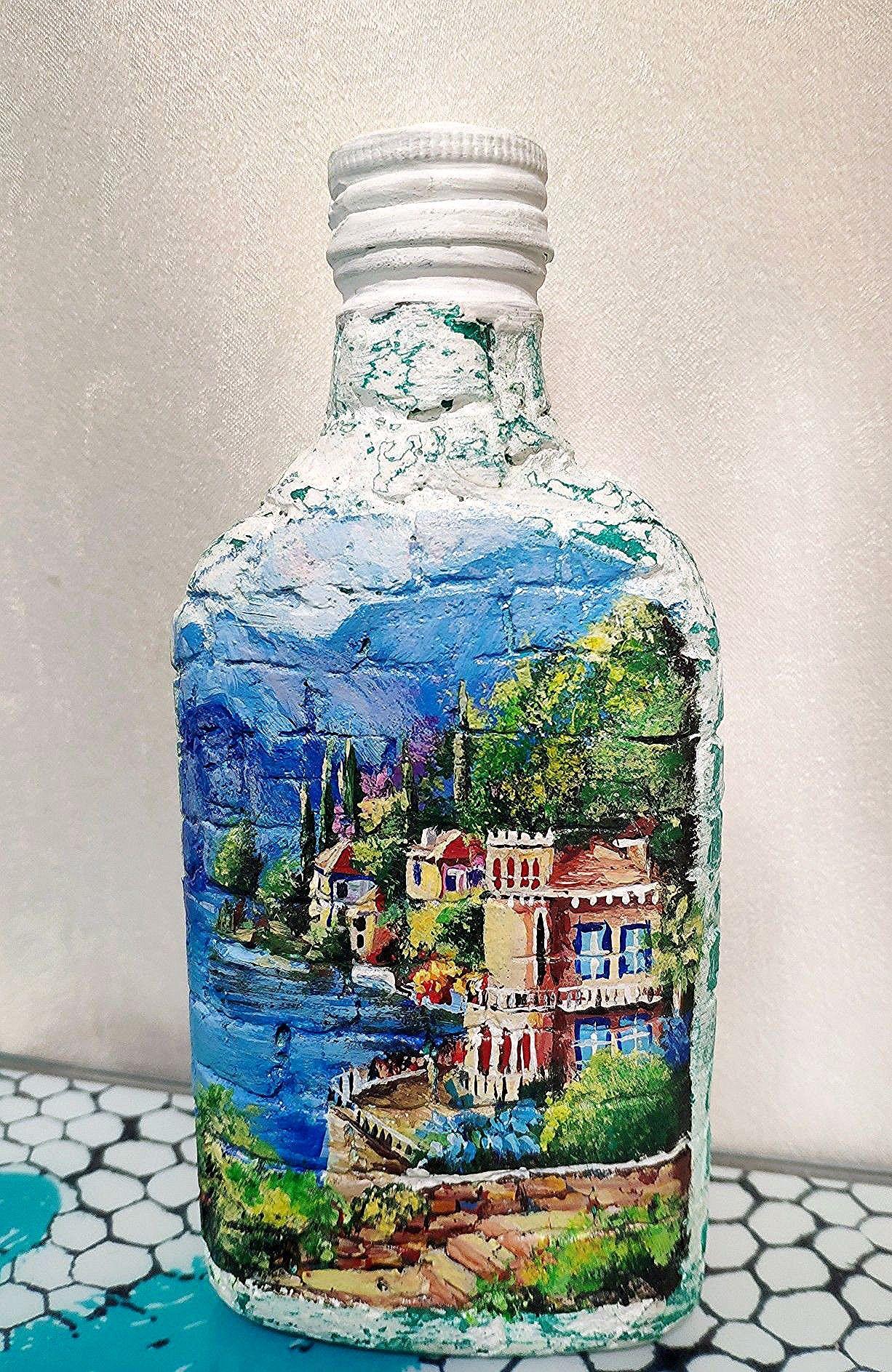 Подарок на любой случай. Оригинальная роспись бутылки. А