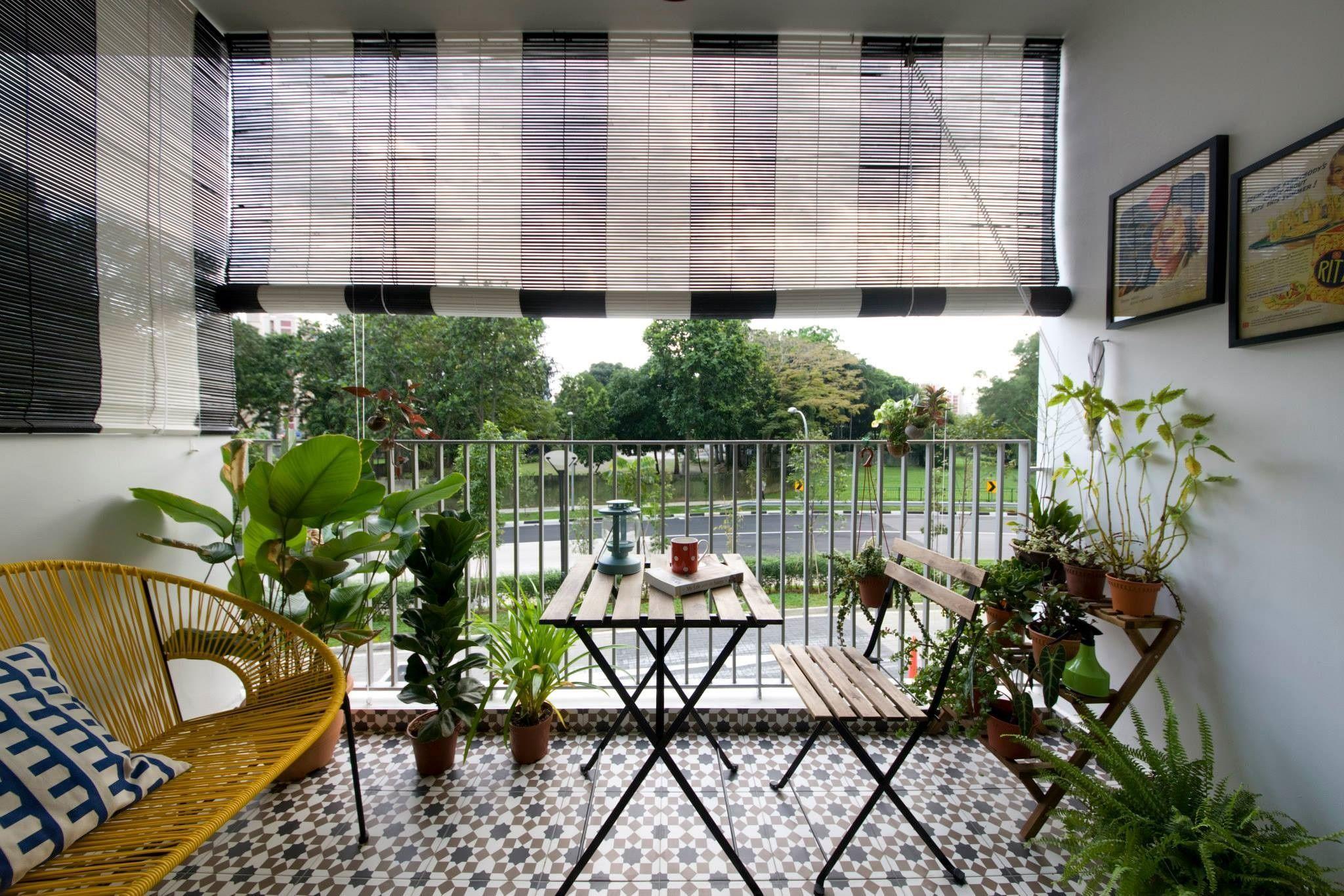 Come creare un'area living in balcone Decorazione da