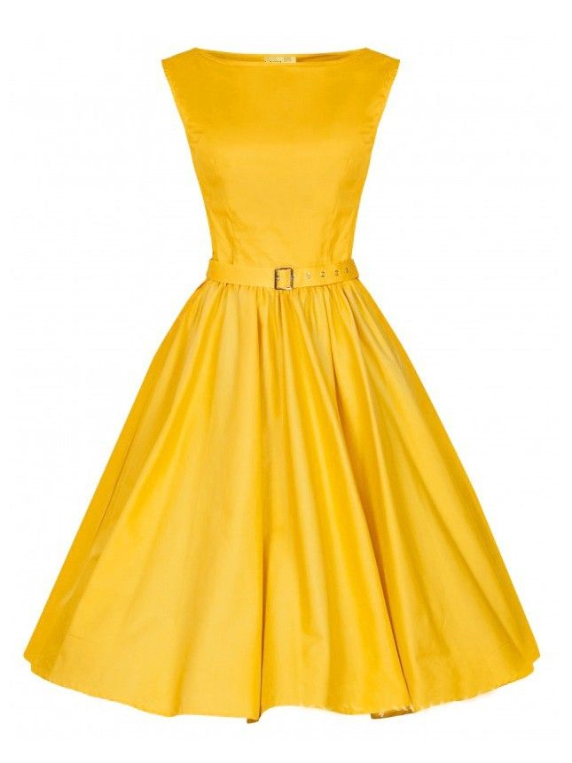 yellow vintage sleeveless midi dress. Black Bedroom Furniture Sets. Home Design Ideas