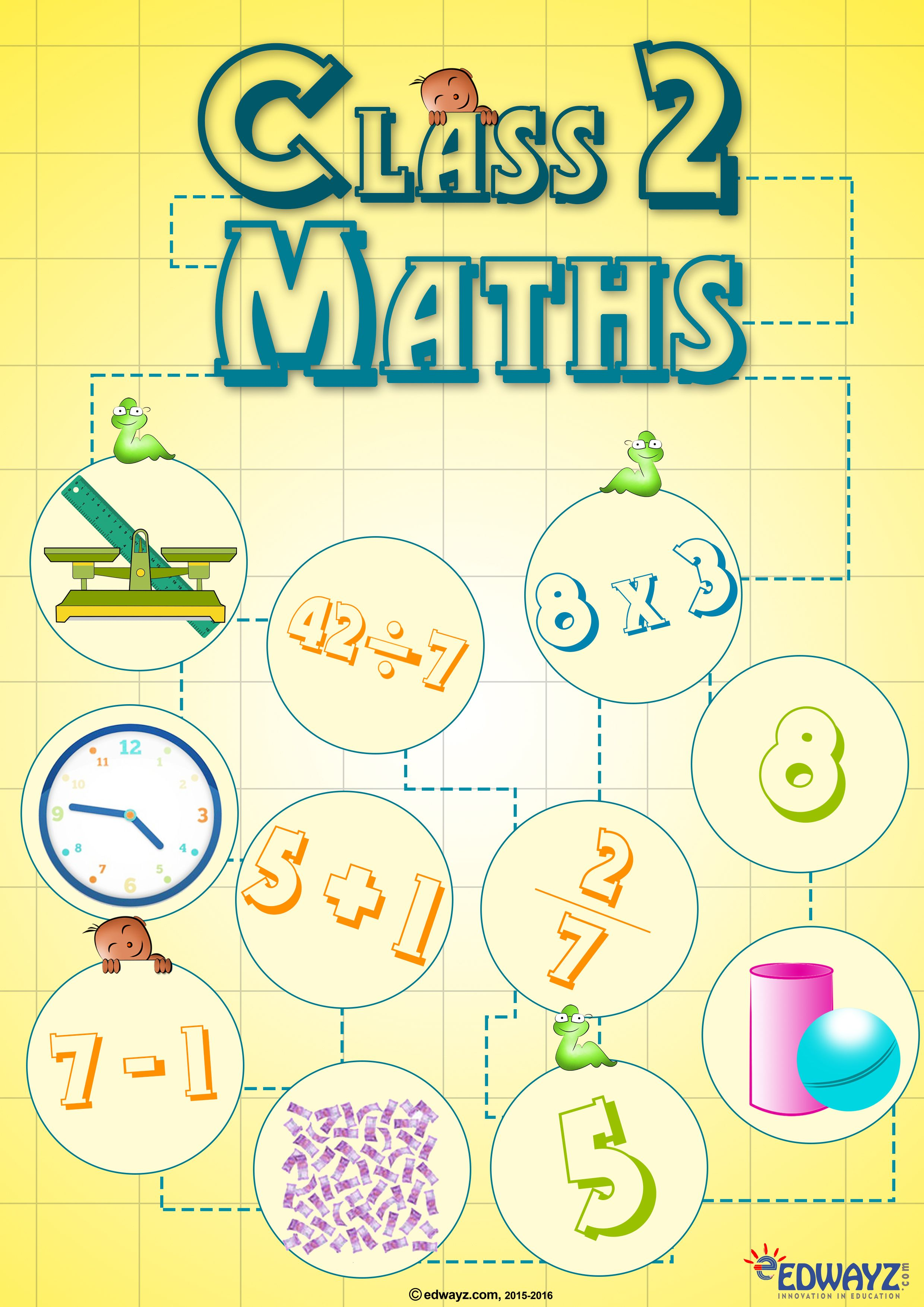 Paidworksheets For Class2 Math For All The Topic