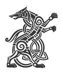 Image Result For Norse Wolves Tattoo Viking Art Celtic Art Wolf Tattoos