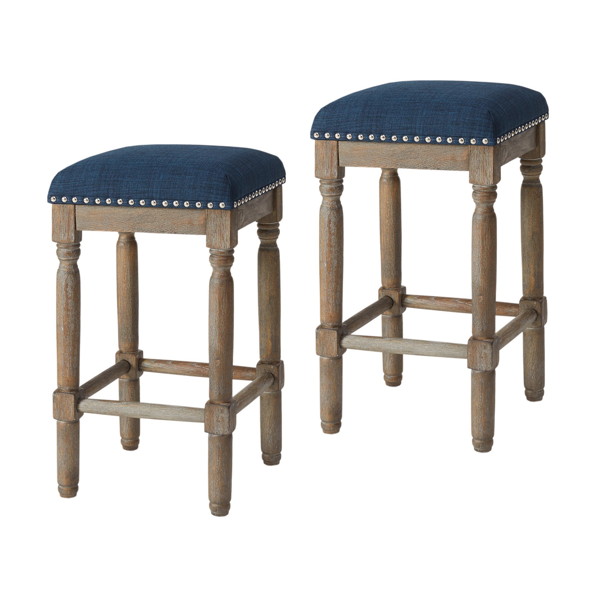 Peachy Wells 26 Counter Stool Set Of 2 Navy Blue Products In Gmtry Best Dining Table And Chair Ideas Images Gmtryco