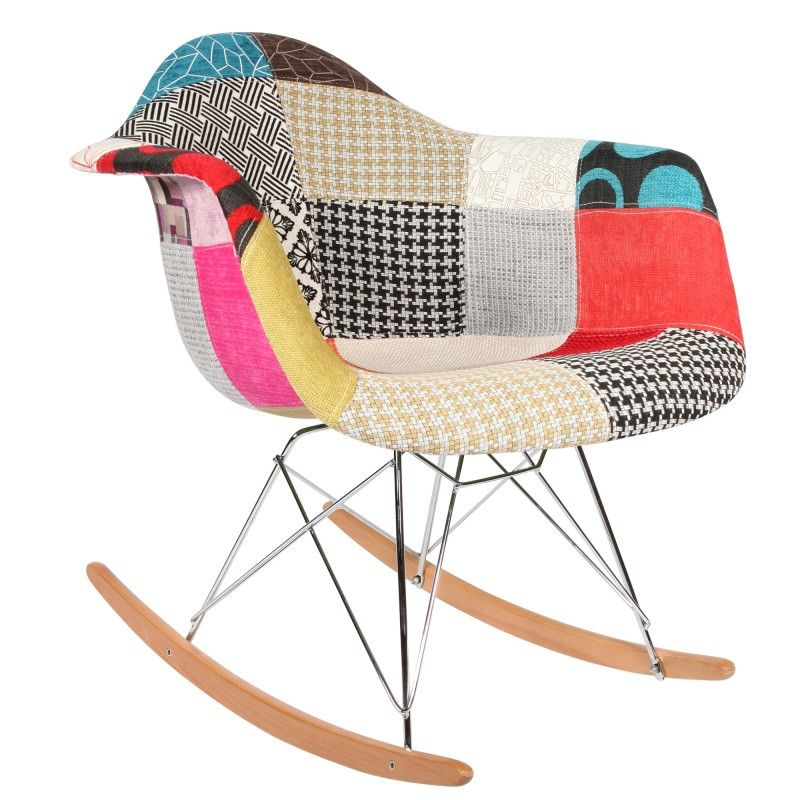 Chaise fauteuil rar patchwork d 39 inspiration charles eames for Chaise eams patchwork