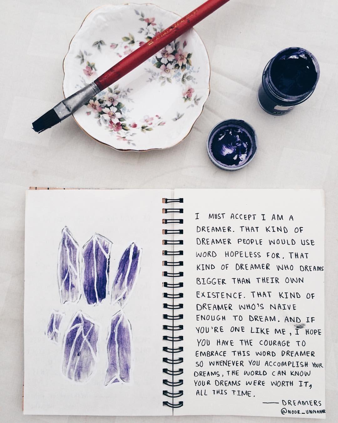 Purple crystals art journal entry tumblr creative craft for Art inspiration ideas tumblr
