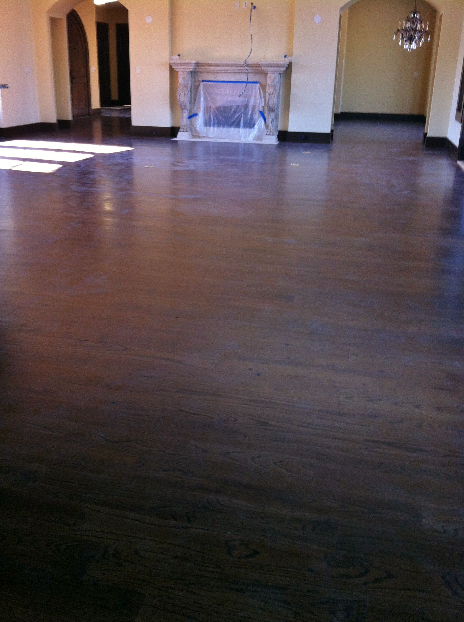 2 Common Red Oak Stained Jacobean Hardwood Flooring