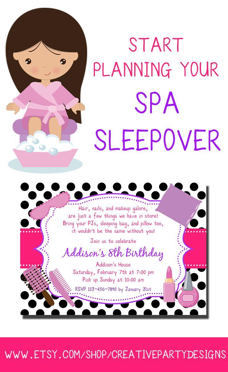 4 Printable Stationery Designs to Create a Stylish Spa Sleepover ...