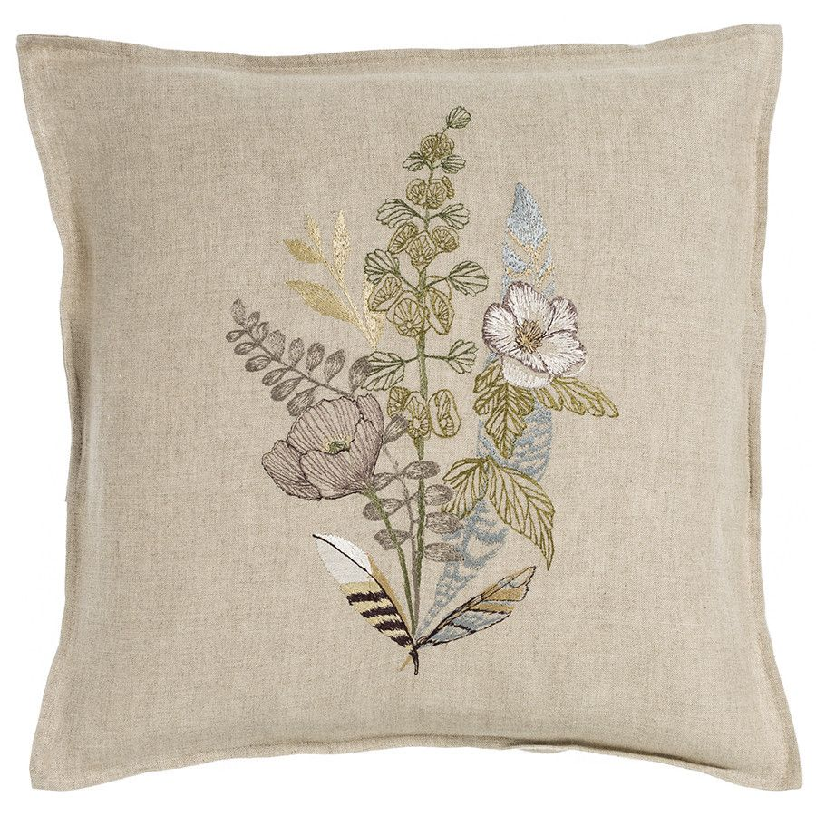 Coral and Tusk - poppy pillow | Embroidery Cushion ...