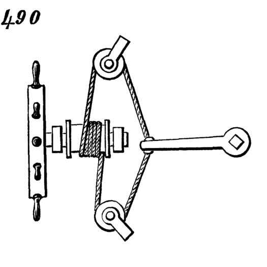 Movement 490, Steering mechanism