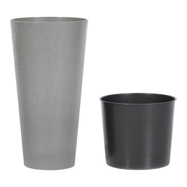 Doniczka Prosperplast Tubus Slim Beton Dtus300b Small Trash Can Trash Can Canning