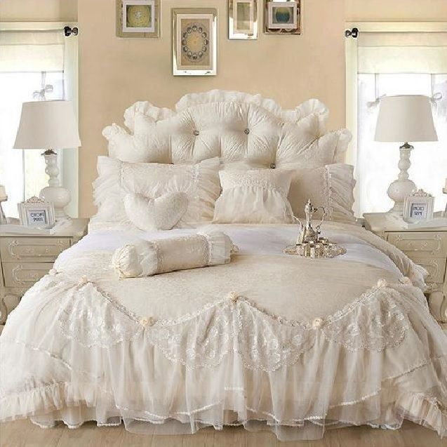 Pin By Robert Gardiner On Romantic Bedrooms Lace Bedding