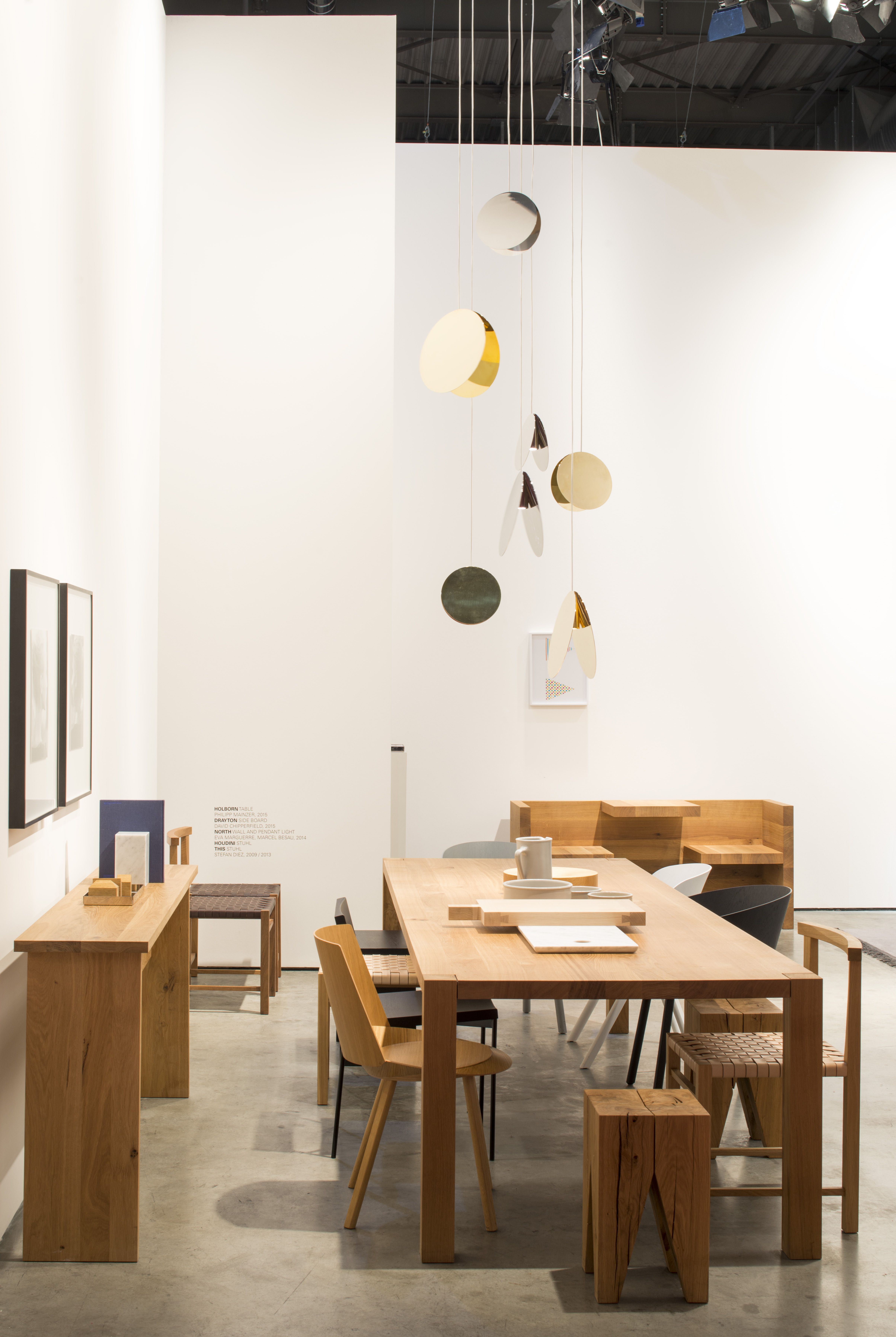 E15 Dining Table Holborn With North Lighting Installation At The