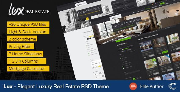 Luxury Real Estate PSD Template Psd templates, Luxury real - mortgage calculator template