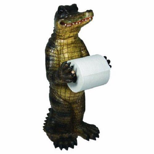 Wonderful Free Standing Rustic Cabin Toilet Paper Storage Holder Alligator Bathroom  Stand #Unbranded