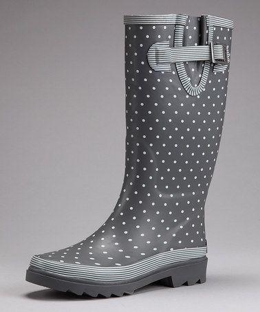 ca38c2ee484c Chooka Charcoal Polka Dot Rain Boot by Style Splash  Rain Boots    Accessories on