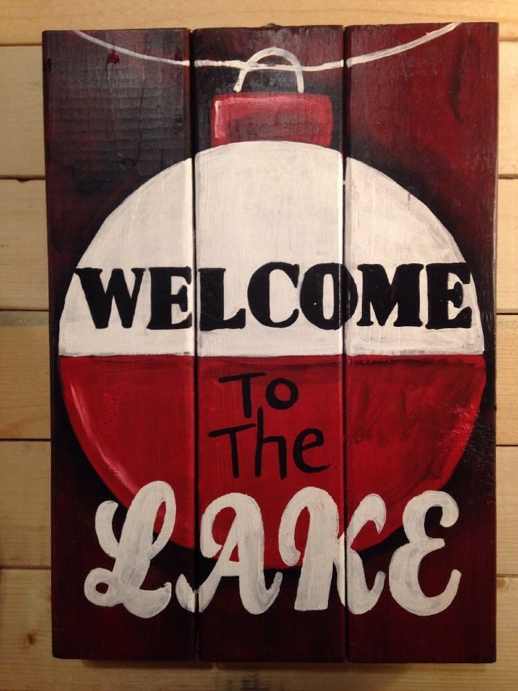 Welcome To The Lake Signs Decor Prepossessing Welcome To The Lake House Handmade Pallet Porch Primitive Rustic Inspiration