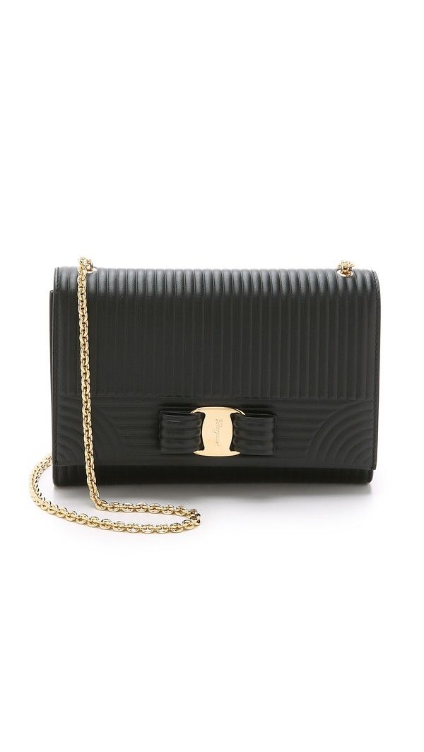 Salvatore Ferragamo Miss Vara Bow Mini Bag - Nero  f4ec465a39de8