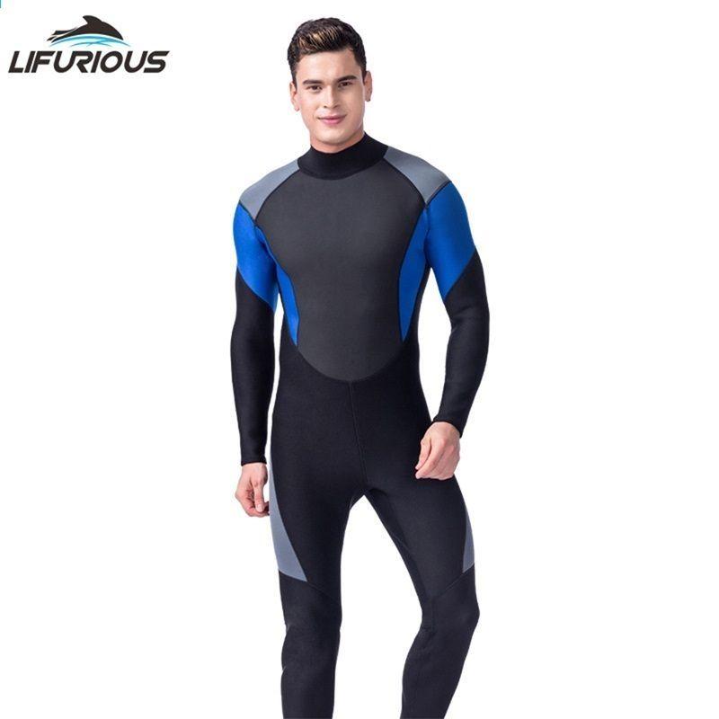 GOOSUIT Full Wetsuits for Man,Neoprene 3mm Full Body Diving Suit